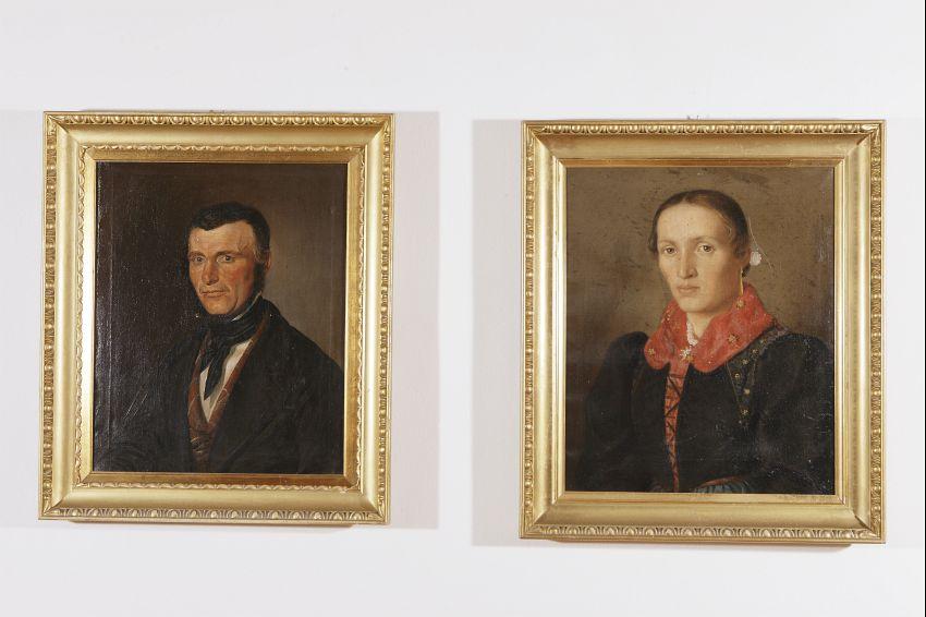 Francesco e Teresa Demai - dipinti del 1850 e 1845